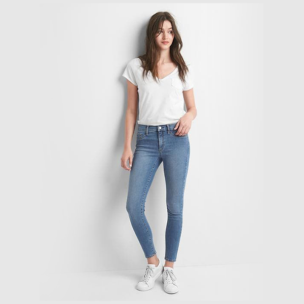 Mid rise easy ankle jeggings dari GAP