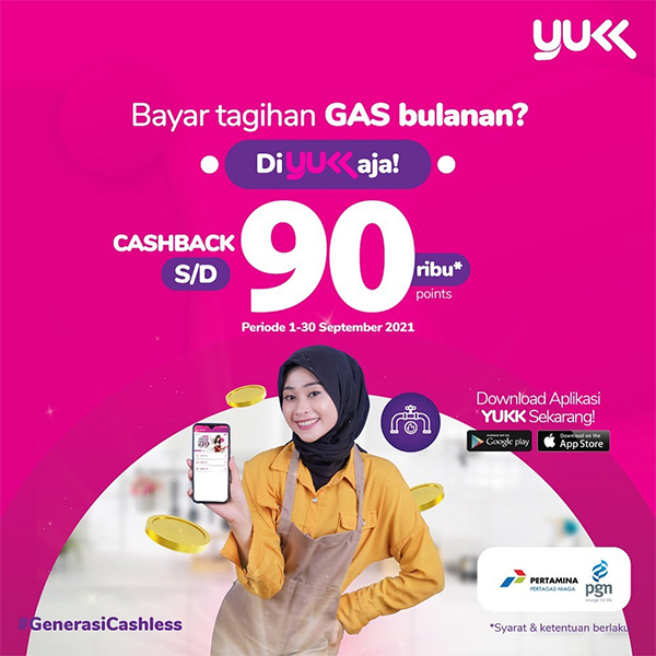 Special Promo: Cashback90.000 Poin untuk Tagihan Gas